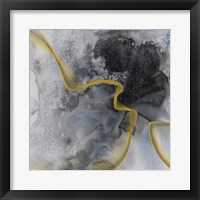Framed Watercolor Symphony Gold touch 2