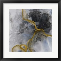 Framed Watercolor Symphony Gold touch 3