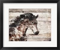 Framed Running Wild Horse 10