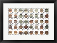 Framed Industrial Mixed Media Circles 808-233