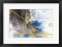 Framed Coastal Watercolor Abstract 141