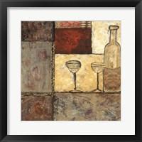 Framed Wine for Two I