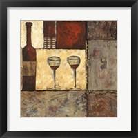 Framed Wine for Two II