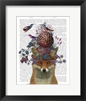 Framed Fox Birdkeeper with Artichoke