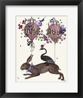 Framed Hare Birdkeeper, Hot Air Balloon