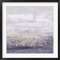 Framed Amethyst Glitter I
