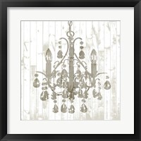 Framed Shiplap Chandelier I