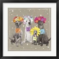 Framed Fancypants Wacky Dogs V