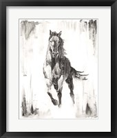 Framed Rustic Black Stallion II