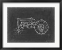 Framed Tractor Blueprint I