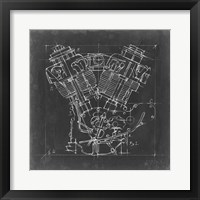 Framed Motorcycle Engine Blueprint I