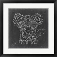 Framed Motorcycle Engine Blueprint I