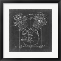 Framed Motorcycle Engine Blueprint II