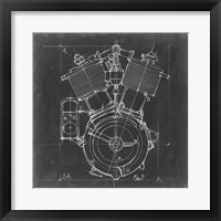 Framed Motorcycle Engine Blueprint IV