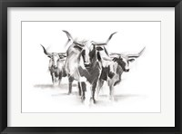 Framed Contemporary Cattle I