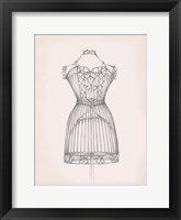Framed Antique Dress Form I