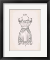 Framed Antique Dress Form II