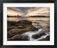 Framed Sydney in Gold and Blue