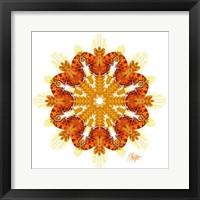Framed Comma Butterfly Wheat Mandala