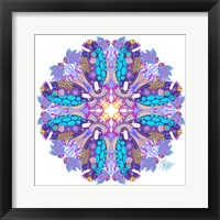 Framed Purple Clown Triggerfish Coral Reef Mandala