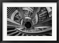 Framed Royal Staircase 2 Black/White