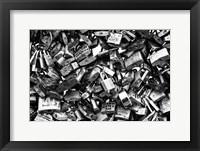 Framed Love Locks Black/White