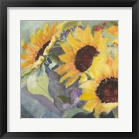 Framed Sunflowers in Watercolor I
