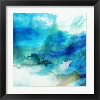 Framed Ephemeral Blue I