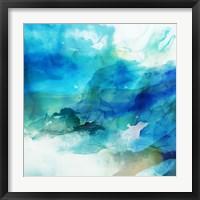 Framed Ephemeral Blue I