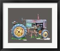 Framed Vintage Tractor VIII