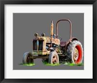 Framed Vintage Tractor X