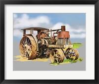 Framed Vintage Tractor XII