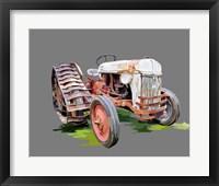 Framed Vintage Tractor XIV