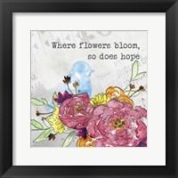 Framed Bloom & Fly I