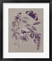 Framed Nature Study in Plum & Taupe II