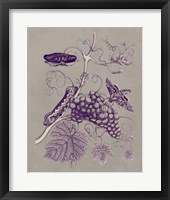 Framed Nature Study in Plum & Taupe III