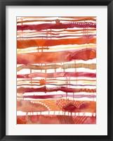 Framed Tangerine Stripes I