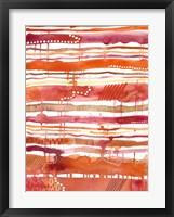 Framed Tangerine Stripes II