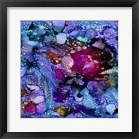 Framed Purple Outburst I