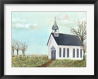 Framed Country Church IV