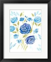 Framed Cerulean Blooms II