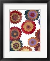 Framed Scattered Blooms I
