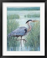 Framed Wetland Heron I