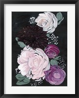 Framed Dark & Dreamy Floral I