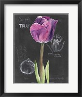 Framed Chalkboard Flower IV