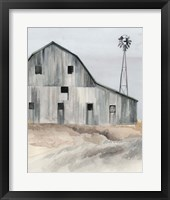 Framed Winter Barn I