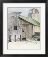 Framed Winter Barn II