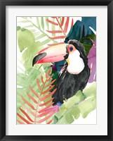 Framed Toucan Palms I