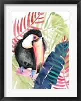 Framed Toucan Palms II