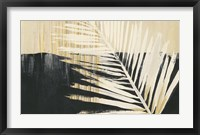 Framed Golden Raffia II